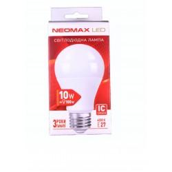 Светодиодная LED лампочка NEOMAX 10 Ватт NX10L E27 4000K (ЦЕНА ЗА 5 ШТ)